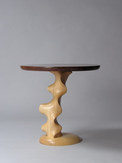 Contemporary custom handcrafted end table - round table ...