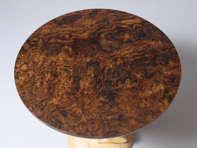 Contemporary Custom Handcrafted End Table Round Table