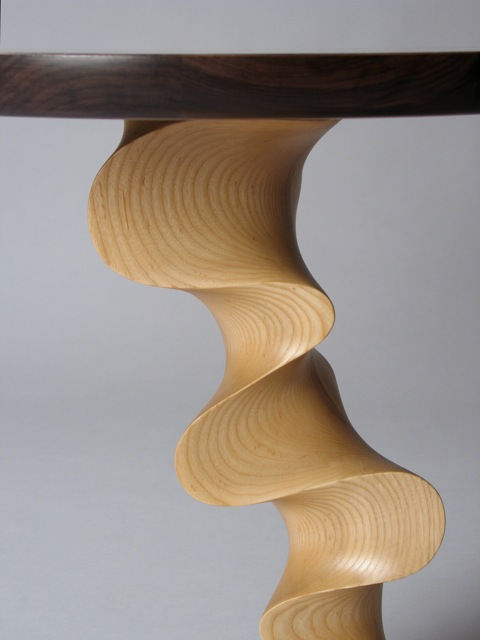 ... handcrafted end table - round table top | David Hurwitz Originals