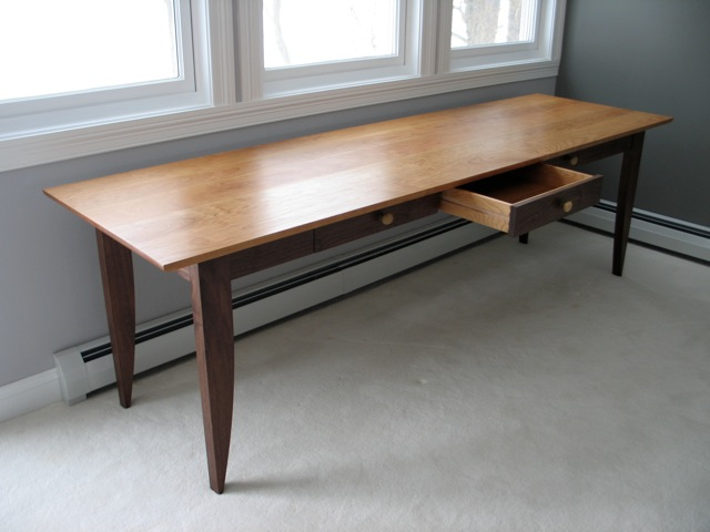 reputable site d81ea 852f2 Custom Writing Desk with Drawers in walnut and cherry ...