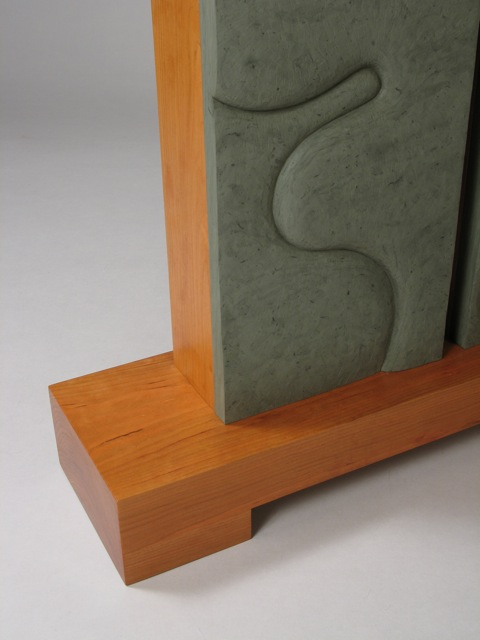 stone furniture, wood furniture, stone and wood furniture, David Hurwitz, furniture maker, furniture designer, Kerry O Furlani, sculptor, stone carver, carved stone, slate, Vermont, custom furniture, hall tables, handmade furniture, contemporary furniture, modern furniture, art furniture, studio furniture, cherry, curly cherry, made in Vermont, made in USA, functional art
