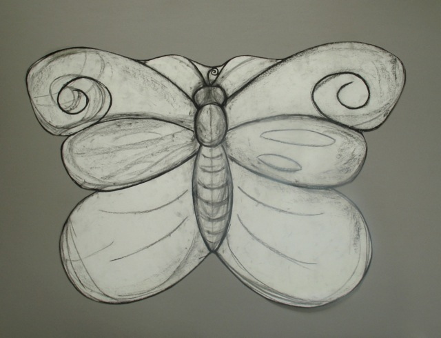 Kerry O. Furlani, butterfly table, drawing, slate and wood furniture, vermont made furniture, made in vermont, stone carving, stone sculpture, bas relief carving