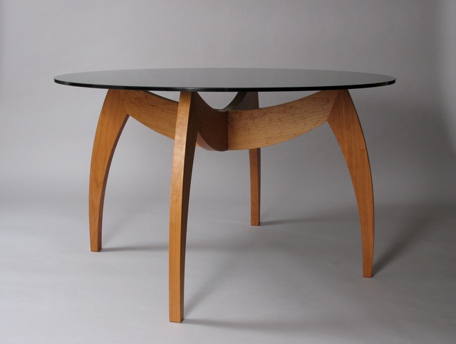 Contemporary Round Dining Table Modern Custom Made Furniture Handcrafted