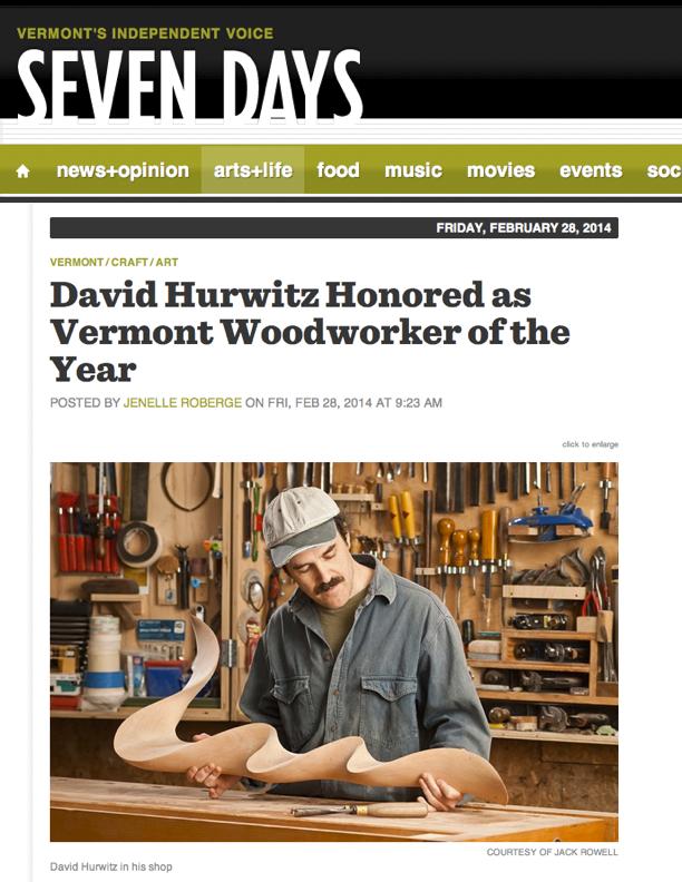 Vermont Woodworker of the Year, Seven Days, Burlington, Vermont, David ...